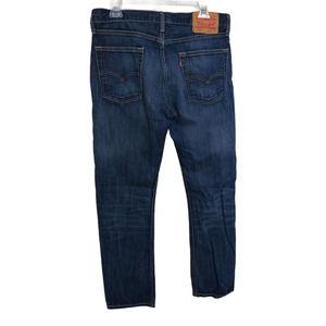 LEVIS 513 Slim Straight 100% Cotton Denim Medium Wash Jeans 33X32